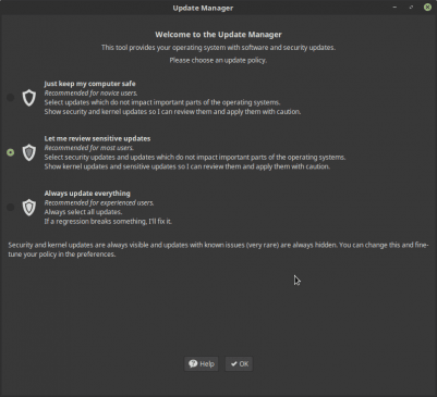 Linux Mint update policy